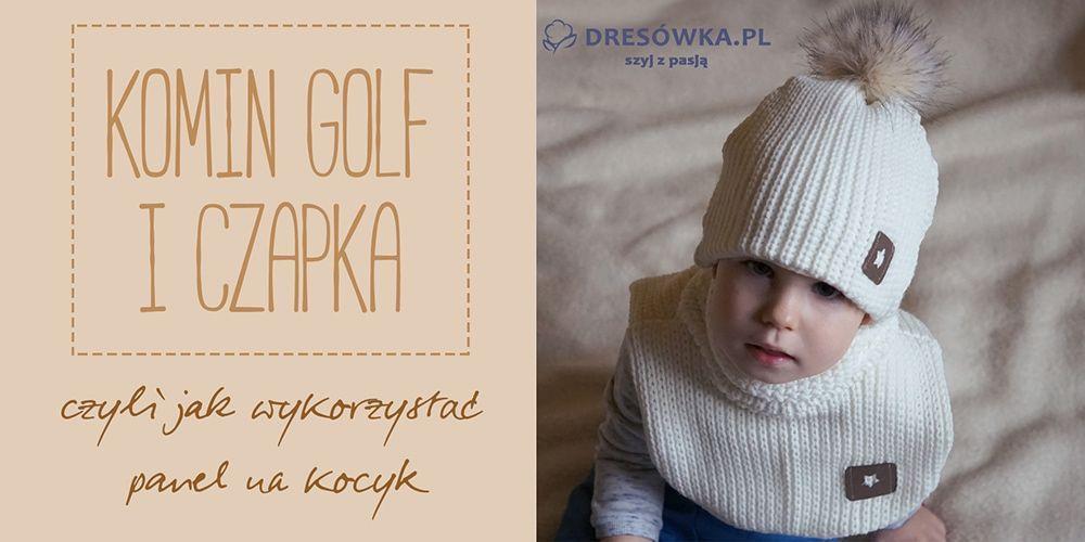 Komin-golf i czapka