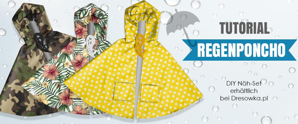 Regenponcho für Kinder DIY Näh-Set