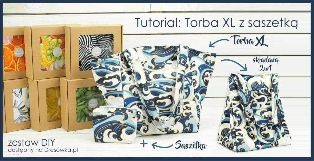 Torba XL składana 2w1 + saszetka
