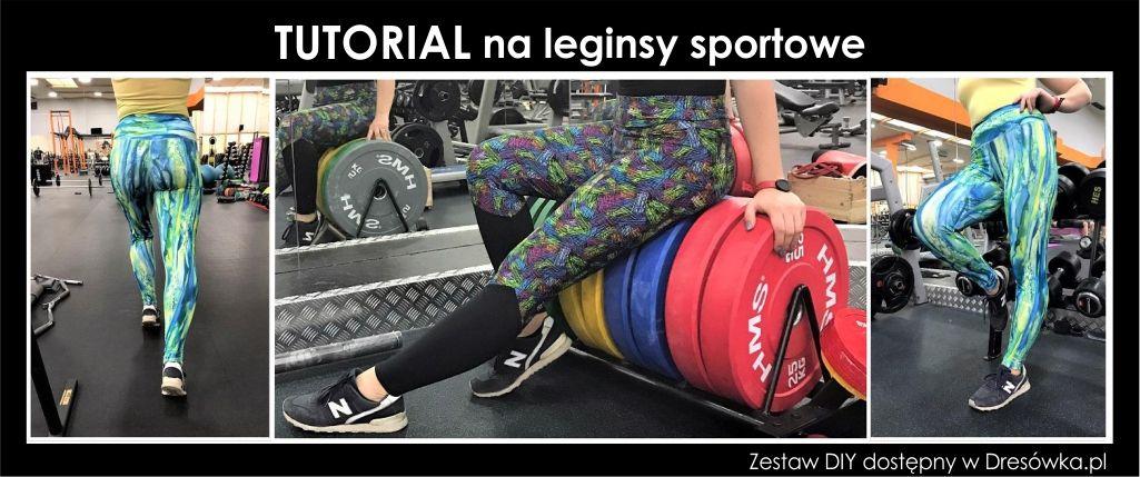 Legginsy sportowe z wysokim pasem - tutorial