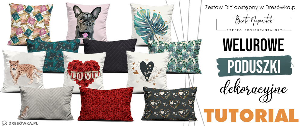 Welurowe poduszki dekoracyjne