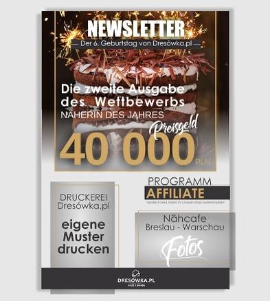 Newsletter 6. Geburtstag von Dresowka.pl
